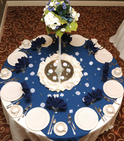 Overhead view of Catering Table